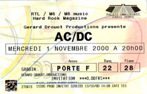 AC/DC @ Accor Arena (ex-AccorHotels Arena, ex-Palais Omnisports Paris Bercy) - Paris, France [01/11/2000]