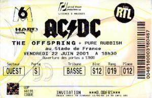 AC/DC @ Stade de France - Saint-Denis, France [22/06/2001]