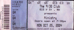 Ministry @ The 9:30 Club - Washington, D.C., Etats-Unis [25/10/2004]