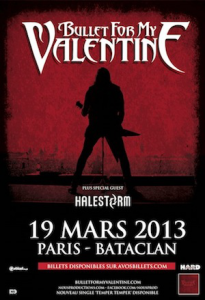 Bullet For My Valentine @ Le Bataclan - Paris, France [19/03/2013]