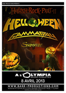 Helloween @ L'Olympia - Paris, France [08/04/2013]