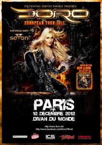 Doro @ Le Divan du Monde - Paris, France [12/12/2012]