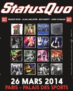 Status Quo @ Palais des Sports - Paris, France [26/03/2014]