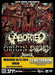 Aborted @ Le Metronum - Toulouse, France [10/12/2014]