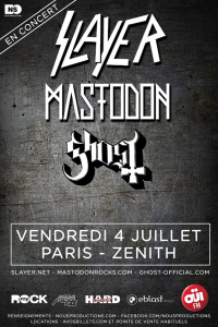 Slayer - Mastodon - Ghost @ Le Zénith - Paris, France [04/07/2014]