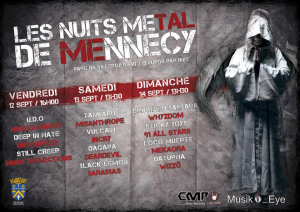 Les Nuits Metal de Mennecy @ Parc de Villeroy - Mennecy, France [12/09/2014]
