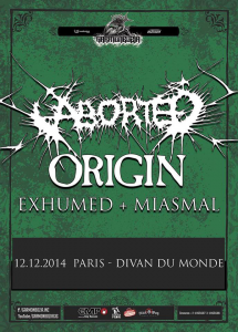 Aborted @ Le Divan du Monde - Paris, France [12/12/2014]