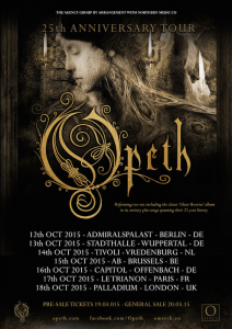 Opeth @ Stadthalle - Wuppertal, Allemagne [13/10/2015]