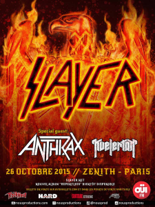 Slayer @ Le Zénith - Paris, France [26/10/2015]