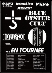 Blue Öyster Cult @ Hall Comminges - Toulouse, France [03/02/1986]
