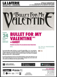 Bullet For My Valentine @ La Laiterie - Strasbourg, France [24/10/2015]