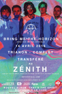 Bring Me The Horizon @ Le Zénith - Paris, France [14/04/2016]