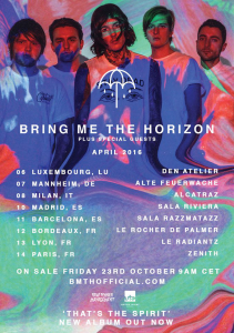 Bring Me The Horizon @ Le Rocher de Palmer - Cenon, France [12/04/2016]