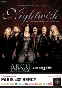 Nightwish @ Accor Arena (ex-AccorHotels Arena, ex-Palais Omnisports Paris Bercy) - Paris, France [25/11/2015]