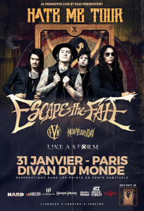 Escape The Fate @ Le Divan du Monde - Paris, France [31/01/2016]