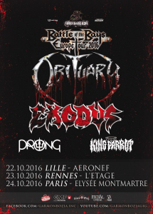Obituary @ L'Aéronef - Lille, France [22/10/2016]