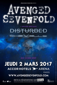 Avenged Sevenfold @ Accor Arena (ex-AccorHotels Arena, ex-Palais Omnisports Paris Bercy) - Paris, France [02/03/2017]