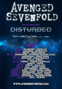 Avenged Sevenfold @ Le Hall 622 - Zürich, Suisse [26/02/2017]