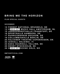 Bring Me The Horizon @ Forest National - Bruxelles, Belgique [12/11/2016]