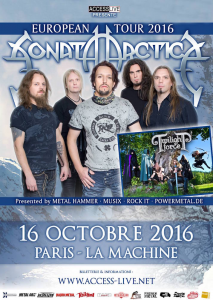 Sonata Arctica @ La Machine du Moulin-Rouge - Paris, France [16/10/2016]