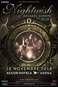 Nightwish @ Accor Arena (ex-AccorHotels Arena, ex-Palais Omnisports Paris Bercy) - Paris, France [10/11/2018]