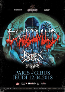 Exhumed @ Le Gibus - Paris, France [12/04/2018]