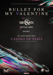 Bullet For My Valentine @ Le Casino de Paris - Paris, France [06/11/2018]