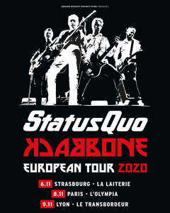 Status Quo @ L'Olympia - Paris, France [08/11/2020]