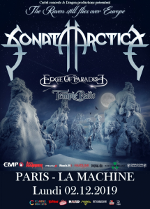 Sonata Arctica @ La Machine du Moulin-Rouge - Paris, France [02/12/2019]