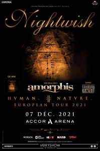 Nightwish @ Accor Arena (ex-AccorHotels Arena, ex-Palais Omnisports Paris Bercy) - Paris, France [07/12/2021]