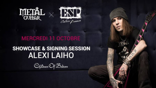 CHILDREN OF BODOM • Alexi Laiho en dédicace chez Metal Guitar