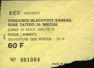 Rose Tattoo @ Le Stade - Annecy, France [17/08/1981]