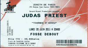 Judas Priest @ Le Zénith - Paris, France [20/06/2011]
