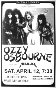 Ozzy Osbourne @ Cambria County War Memorial - Johnstown, Pennsylvanie, Etats-Unis [12/04/1986]