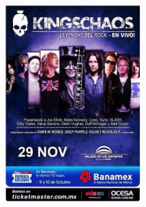 Kings of Chaos @ Palacio de Los Deportes - Mexico City, Mexique [29/11/2013]