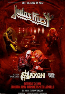 Judas Priest @ Hammersmith Apollo - Londres, Angleterre [26/05/2012]