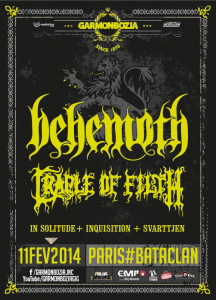 Behemoth @ Le Bataclan - Paris, France [11/02/2014]