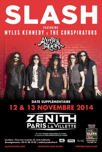 Slash feat. Myles Kennedy and the Conspirators @ Le Zénith - Paris, France [12/11/2014]