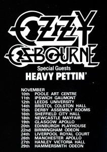 Ozzy Osbourne @ Apollo Theatre - Manchester, North West England, Angleterre [26/11/1983]