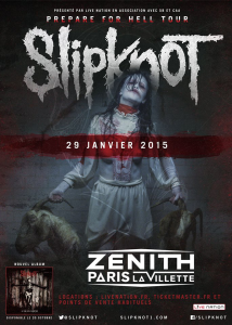 Slipknot @ Le Zénith - Paris, France [29/01/2015]