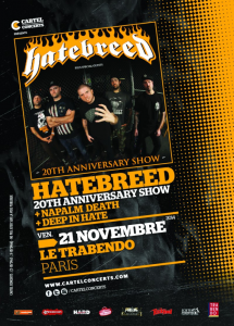 Hatebreed @ Le Trabendo - Paris, France [21/11/2014]