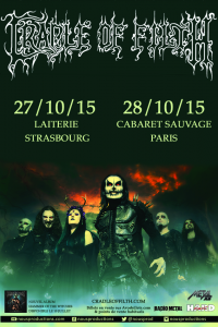 Cradle Of Filth  @ La Laiterie - Strasbourg, France [27/10/2015]