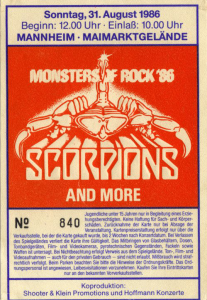Monsters of Rock '86 @ Maimarktgelände - Mannheim, Allemagne [31/08/1986]