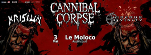 Cannibal Corpse @ Le Moloco - Audincourt, France [03/05/2016]