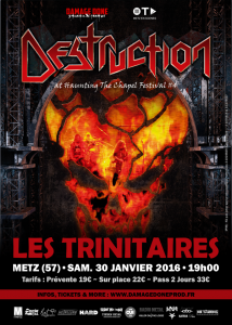 Haunting The Chapel Fest #4 @ Les Trinitaires - Metz, France [30/01/2016]