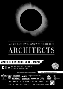 Architects @ Le CCO - Villeurbanne, France [08/11/2016]