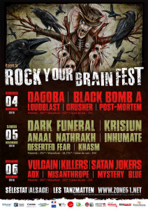 Rock Your Brain Festival 2016 @ Les Tanzmatten - Sélestat, France [05/11/2016]