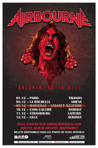 Airbourne @ Le Radiant - Lyon, France [10/12/2016]