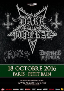Dark Funeral @ Petit Bain - Paris, France [18/10/2016]