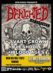 Benighted @ Le Metronum - Toulouse, France [03/03/2017]